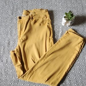 Maurices Mustard Skinny Pants Jeans